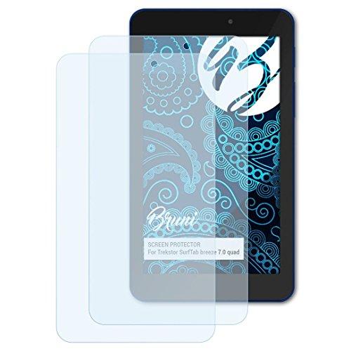 Bruni Schutzfolie kompatibel mit Trekstor SurfTab Breeze 7.0 Quad Folie, glasklare Bildschirmschutzfolie (2X)