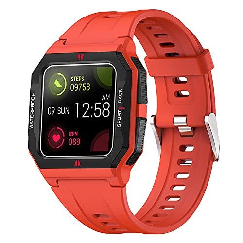 ZGZYL FT10 Men's Smart Watch con Oxígeno En La Sangre Presión Arterial De La Ritmo Cardíaco del Monitor Tracker Fitness Cronómetro Step Calorie Waterproof Sports Watch,C