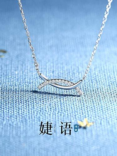 Xianglsp Co.,ltd Collar Collar Colgante De Ojo De Doble Arco Collar Collar De Plata Cruz De Europa Y América Cadena De Clavícula Temperamento Simple