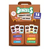 Denzel's Healthy Dog Treats - Low Calorie, Low Fat, Grain Free, Hypoallergenic, Soft-baked Dog Chews -Variety Pack (6 Pack of 3 Chews)