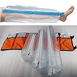 Kits De Férula De Aire De Primeros Auxilios, Férula De Plástico Inflable, Conjunto De 6,Pierna Completa para Uso En El Hogar Al Aire Libre De Emergencia, Naranja