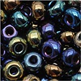 Jablonex Czech Seed Beads 6/0 Metallic Iris Blue Purple Bronze (1 Ounce)