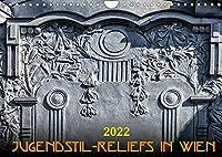 Jugendstil-Reliefs in Wien (Wandkalender 2022 DIN A4 quer): Modern Design an der Hauswand (Monatskalender, 14 Seiten )