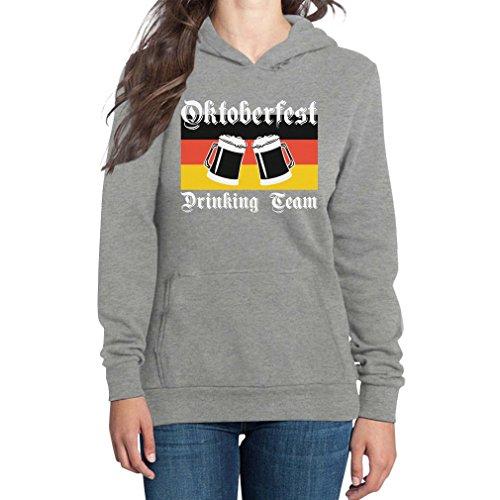 Shirtgeil Oktoberfest Drinking Team - Bier Duitse vlag vrouwen capuchontrui Hood