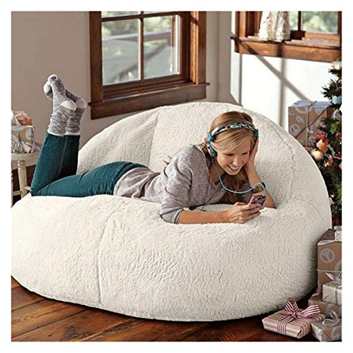ZIJ Lazy Sofa Big Lamb Velvet Bean Bag Set Sofá cama Lazy Sofá cama sin relleno para niños adultos balcón esquina taburete mullido (color: 80 x 135 cm)