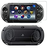 SNNC PlayStation Vita 2000 Screen Protector Anti-Scratch Tempered Glass Film Shield Games Console Joy Con...