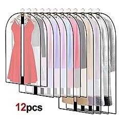 12 Stück Transparente Kleidersack Kleiderhüllen