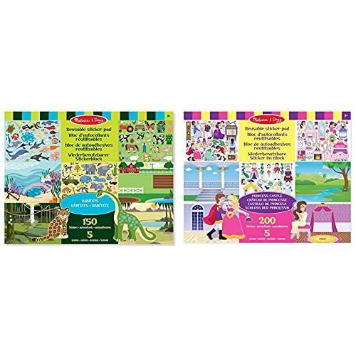 Melissa & Doug- Habitats Adesivi Attacca E Stacca, Multicolore, 14196 & - 14306 - Stacca-Attacca - Castello della Principessa