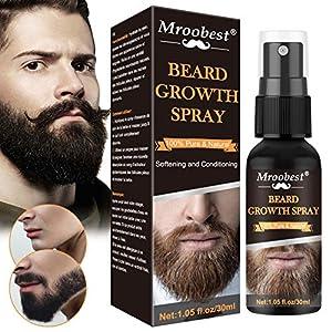 Beard Oil, Beard Growth Oil, Aceite Para Barba, Aceite esencial para el crecimiento de la barba de los hombres, Protección y reparación de la barba y relleno de la placa, Potenciador del vello facial