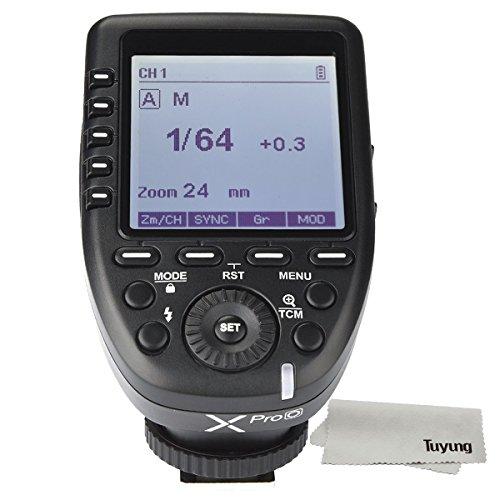 Godox Xpro-O TTL II 2.4G disparador de flash inalámbrico de alta velocidad sincronización 1/8000s X sistema de alta velocidad con gran transmisor de pantalla LCD para cámaras Olympus Panasonic