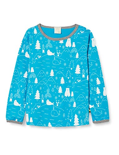 loud + proud Kinder-Unisex Druck T-Shirt, Aqua, 86/92