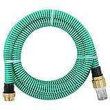 vidaXL Manguera de Succión con Conectores Bombas Filtros de Agua Jardín Patio Instalaciones Sanitarias Domésticas de Latón 4 m 25 mm Verde