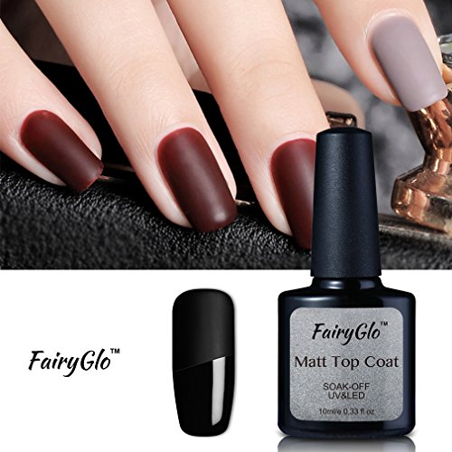 Matte Top Coat Nail Polish Gel Nail Art UV LED Soak Off Manicure Lacquer Varnish FairyGlo 10ml