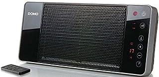Domo DO7341H - Calefactor (Calentador de Ventilador, Cerámico, 12 h, Interior, Negro, 2000 W)