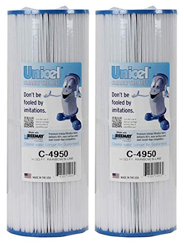 Unicel C-4950 Hot Tub and Spa 50 Sq. Ft. Replacement Filter Cartridge for C-4326 and C-4625 (2 Pack)
