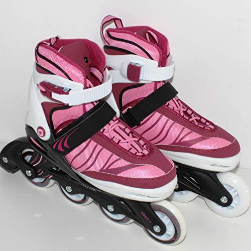 QM Basic - Gelegenheit | 5in1 Inliner Pink-Zero Girl Größe 37-41 | Inline Skates Softboot 5-Fach längen- und weitenverstellbar 9857++