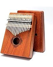 Kalimba 17 knappar tummen piano finger piano skyddsfodral snabb att lära sig Songbook Tuning hammare bärbar marimbafon musikinstrument idealiska presenter till barn vuxna nybörjare