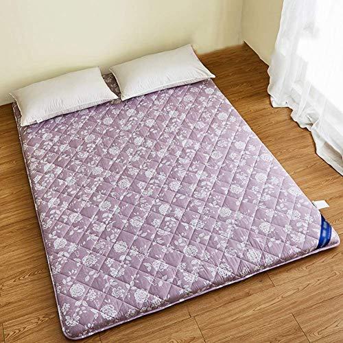 MKXF Alfombrilla de Suelo, colchón de futón de Suelo Plegable portátil Grueso colchón Tradicional japonés Antideslizante Almohadilla para Dormir para niños