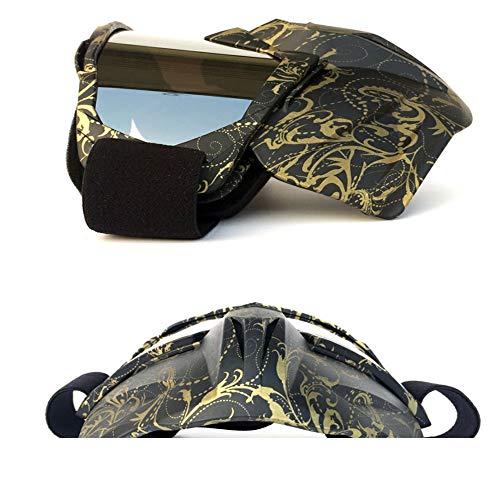 HUOFEIKE Gafas de Cara Completa, Gafas de Moto Desmontables, máscara de Bicicleta...