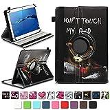 NAmobile Schutzhülle kompatibel für Huawei MediaPad T1 T2 T3 T5 10 Tablet Hülle Tasche Schutzhülle Case 360 Drehbar, Farben:Motiv 12