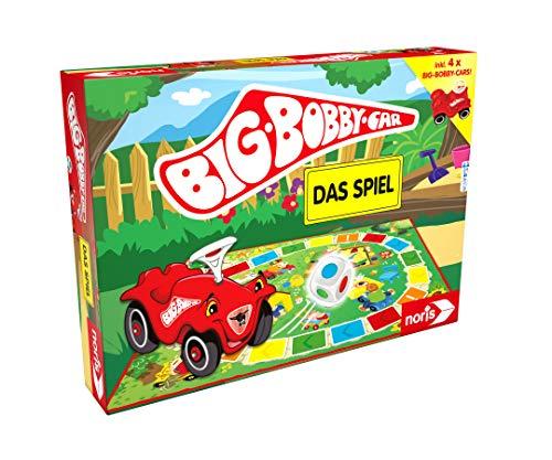 Noris NOR13790 BIG-BOBBY-CAR, Das Spiel - ein lustiges Würfel-Rennspiel für alle Fans - inkl. vier Mini Bobby Cars, ab 3 Jahren
