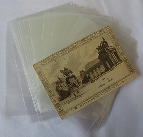 ak-schwarzmann 100 Ansichtskartenhüllen Postkarten-Hüllen für alte Postkarten Schutzhüllen