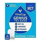 VitaCup 天才 ブレンド 注入 茶 14 ct |ケト |パレオ |全体 30 | チャイ ブラック ティー MCT シナモン ウコン ビタミン 付 ヘルプ ブースト フォーカス 代謝 と エネルギー