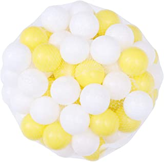 TOYANDONA Plastic Pool Pit Balls: 100pcs 5. 5cm Crush Proof Kids Play Ball Ocean Ball Colorful Ball Toddlers Baby Kids Poo...