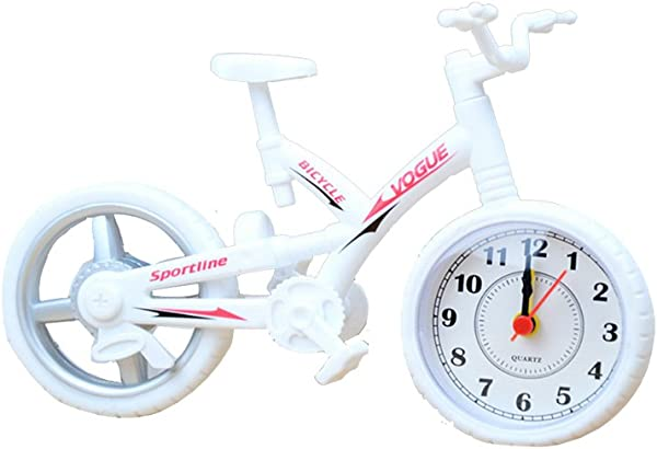 ROOVON Children Alarm Clock Bycicle Model Sport Electronic Clock As Gift To Kids White