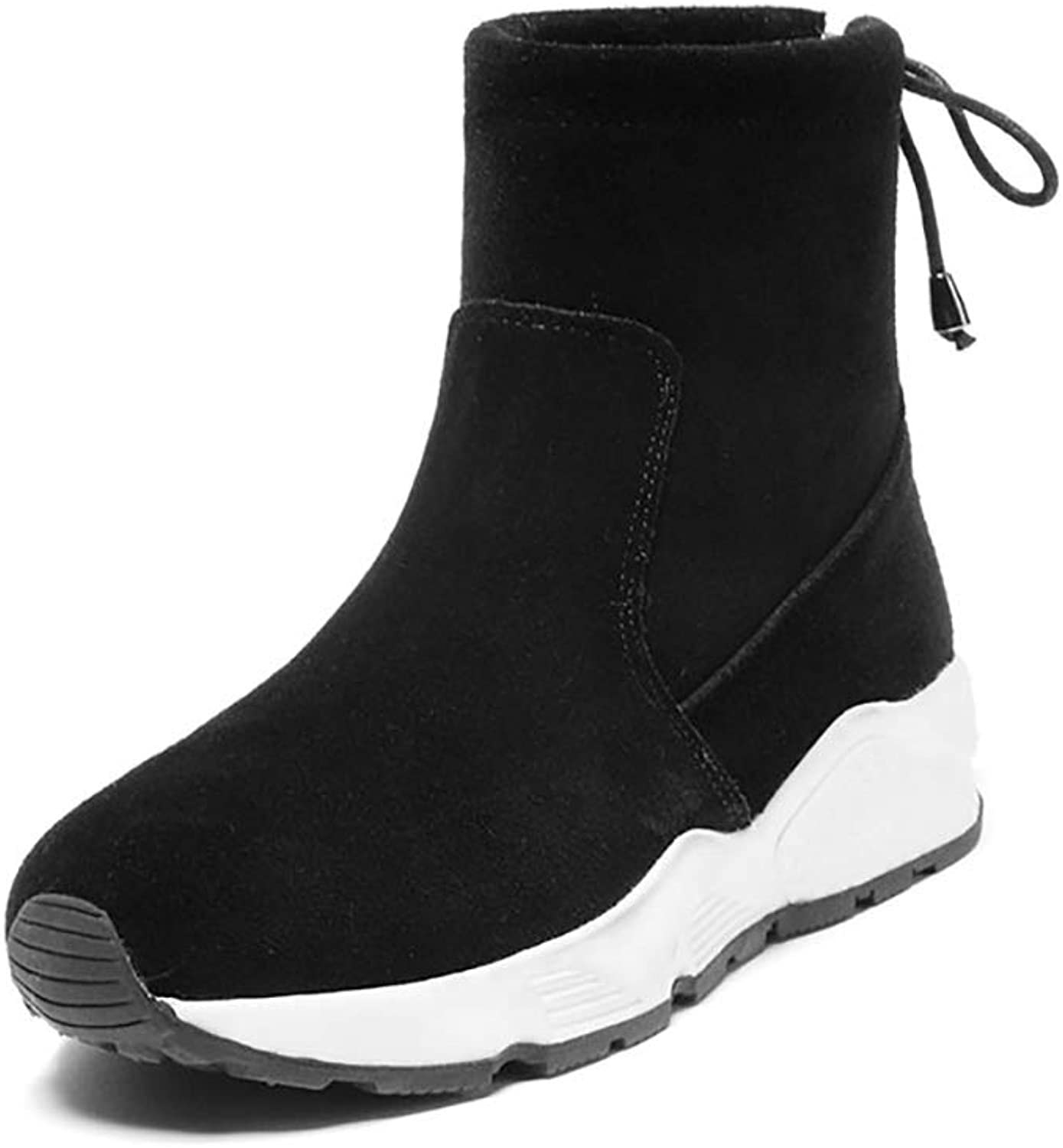 YUBIN Winter Plus Velvet Snow Boots, Sports and Leisure Non-Slip Female Snow Boots, color, Size and Variety of Choices (color   Black, Size   EU 40 US 7.5 UK 6.5 JP 25cm)