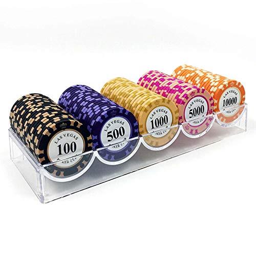 Shuihu Conjunto De Fichas De Póquer 100 Unids, Chips De Arcilla De Casino Portátil De Hierro Incrustado Portátil Chips De Póquer Profesional con Caja De Plástico,E