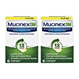 Mucinex DM 12 Hour Cough and Chest Congestion Medicine, Expectorant and Cough Suppressant, Lasts 12 Hours, Powerful Symptom Relief, Extended-Release Bi-Layer Tablets, 2 x 68 Count