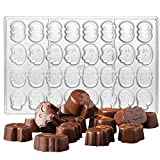Crystalia 3D Polycarbonate Halloween Special Chocolate Mold, Skull Pumpkin Ghost and Bat Shaped Mold for Making Halloween Candy