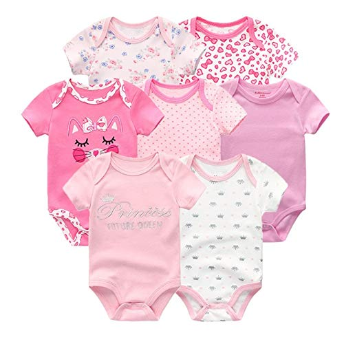 LiuQ Monos Bebé 7pcs / Lot del bebé Mamelucos del algodón Ropa de recién Nacido Ropa del