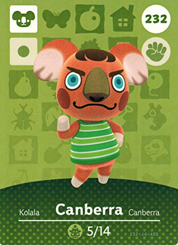 Nintendo Animal Crossing Happy Home Designer Amiibo Card Canberra 232/300 USA Version