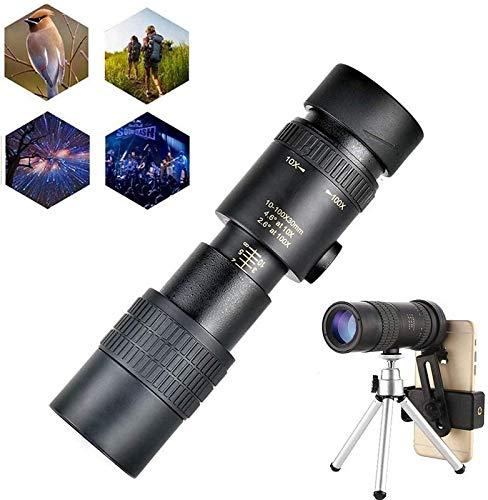 SEESEE.U 4K 10-300X30mm Super-Telezoom-Monokular-Teleskop, wasserdichtes Wandern, Nachtsicht bei schlechten Lichtverhältnissen, hochauflösendes Monokular-Teleskop mit Stativ und Clip
