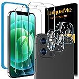 [3 pièces] UniqueMe Verre Trempé et [2 pièces] Caméra Arrière Protecteur Compatible avec iPhone...