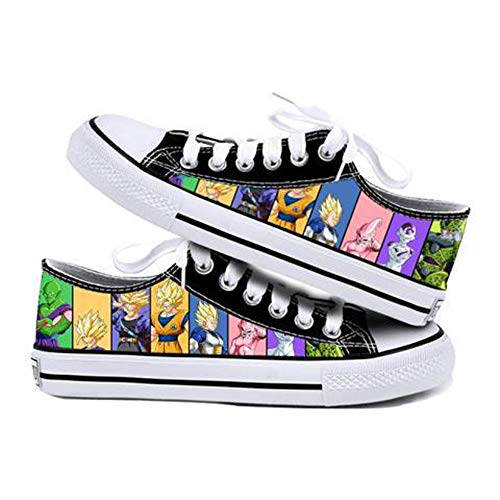 GMANKEE Shoes Freizeitschuhe Damen Wanderschuhe Leichte Turnschuhe Mode Herrenschuhe Herrenschuhe Segeltuchschuhe Damenschuhe Dragon Ball Goku Anime Shoes 41