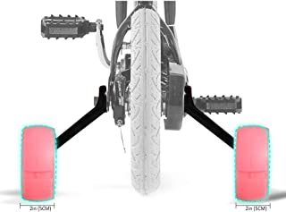 SPORUS Training Wheels, Thicken Bike Training Wheels for Kids Under 70lb with Heavy Duty Magnesium Alloy for 16 Inch Pink[Including Mounted Kit]