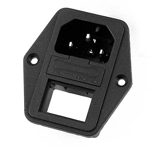 Aexit AC 250V 10A 3 Klemmen IEC320 C14 Steckdose mit Sicherungswippschalter (031b1f125dc52cb6f039eb5788ad7b04)