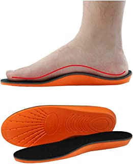 Medear Insole for Men, Memory Foam Insoles Relieve Flat Feet & Heel Pain Anti-Fatigue Arch Support Work Boot/Hiking Shoe Insoles (M)