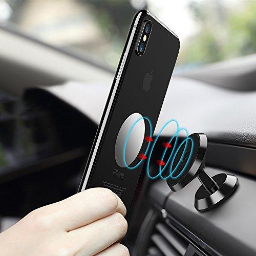 FLOVEME - Supporto magnetico per telefono da auto, supporto per auto multi-angolo di ventilazione per iPhone X, 8, 8P, 7, 6, 5s, Samsung S9, S8, S7, Note8, 5, HTC, LG ecc.