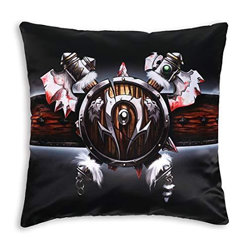 Funda de cojín decorativa de World of Warcraft, 50 x 50 cm, diseño: Orcs