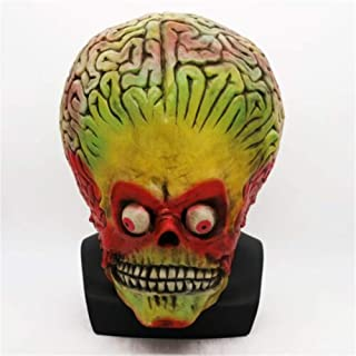 Halloween Alien Costume Mars Attacks Latex Mask Martian Soldier Cosplay Helmet