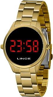 Relógio Lince Feminino Ref: Mdg4618l Vxkx Digital LED Dourado