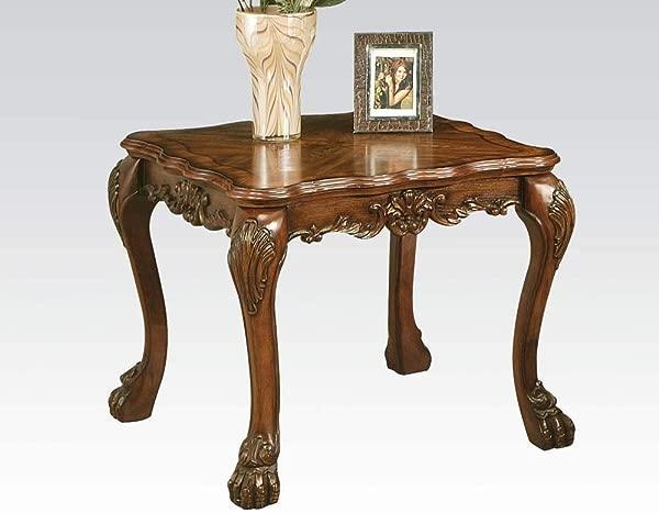 Acme 12166 Dresden End Table Cherry Oak Brown