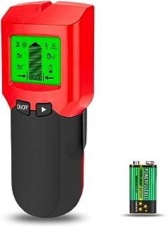下地探し Linkax 下地センサー 4 in 1多機能 スキャナー壁検出器 LCDディスプレイ付き 多機能の壁検出器 木材 金属 ACワイヤ検出用の警告 説明書付(レッド)