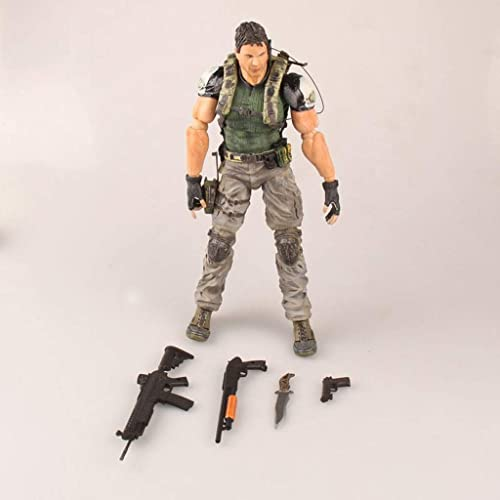 CQOZ Anime Resident Evil Serie Change Chris rotfield Toys Bewegliches Modell Statue H  24 cm Anime-Statue