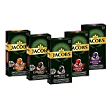 Jacobs Kaffeekapseln, Probierbox Nespresso®* kompatible Kapseln mit 5 verschiedenen Sorten, 5 x 10 Getränke