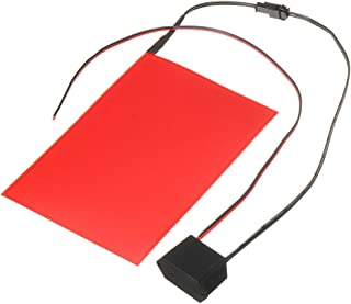Carrfan A6 EL Panel Electroluminescent Cuttable Light Sheet Neon Sheet with 12V Actuator (Red)